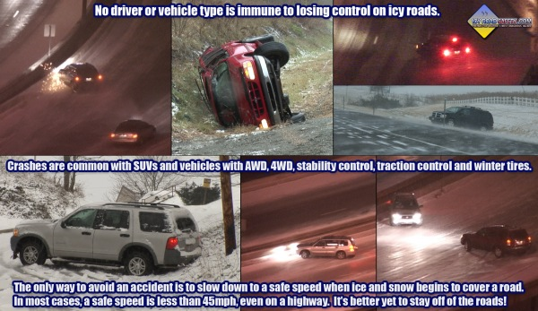 Infographic: No vehicle or driver is immune to icy roads!